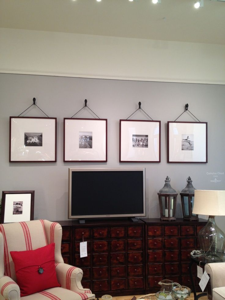 Gallery wall · pottery barn oversized picture frames