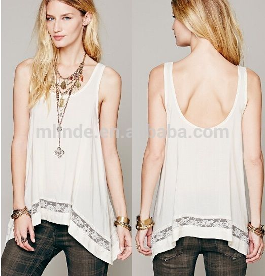 Asymmetric tank tops tee wholesale tunics tops sleeveless for women lady, View Asymmetric tank tops tee, OEM Product Details from Guangzhou Mlinde Imp. & Exp. Co., Ltd. on Alibaba.com
