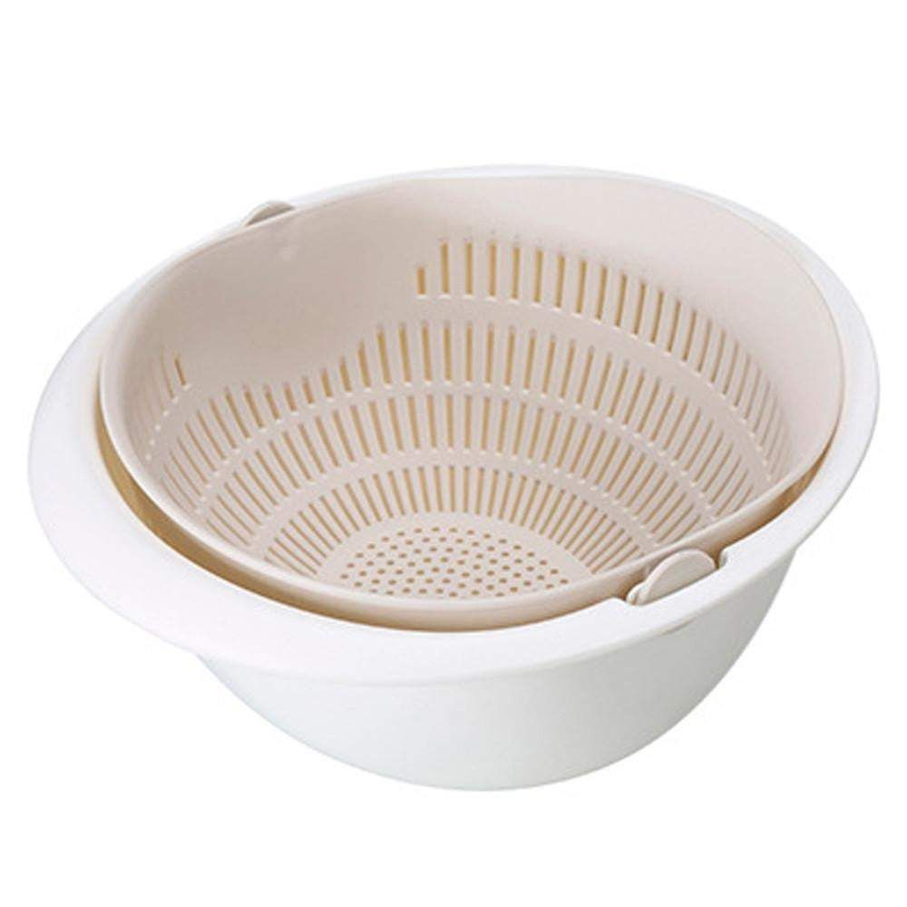 Photo of 2 in 1 Kitchen Strainer – With Washing Bowl / Beige