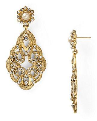 Carolee Lux Large Double Drop Earrings | Bloomingdale's