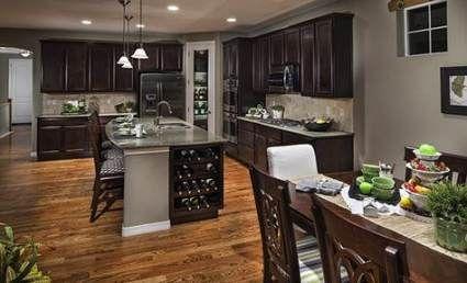 54+ ideas for kitchen dark cabinets light granite gray ...