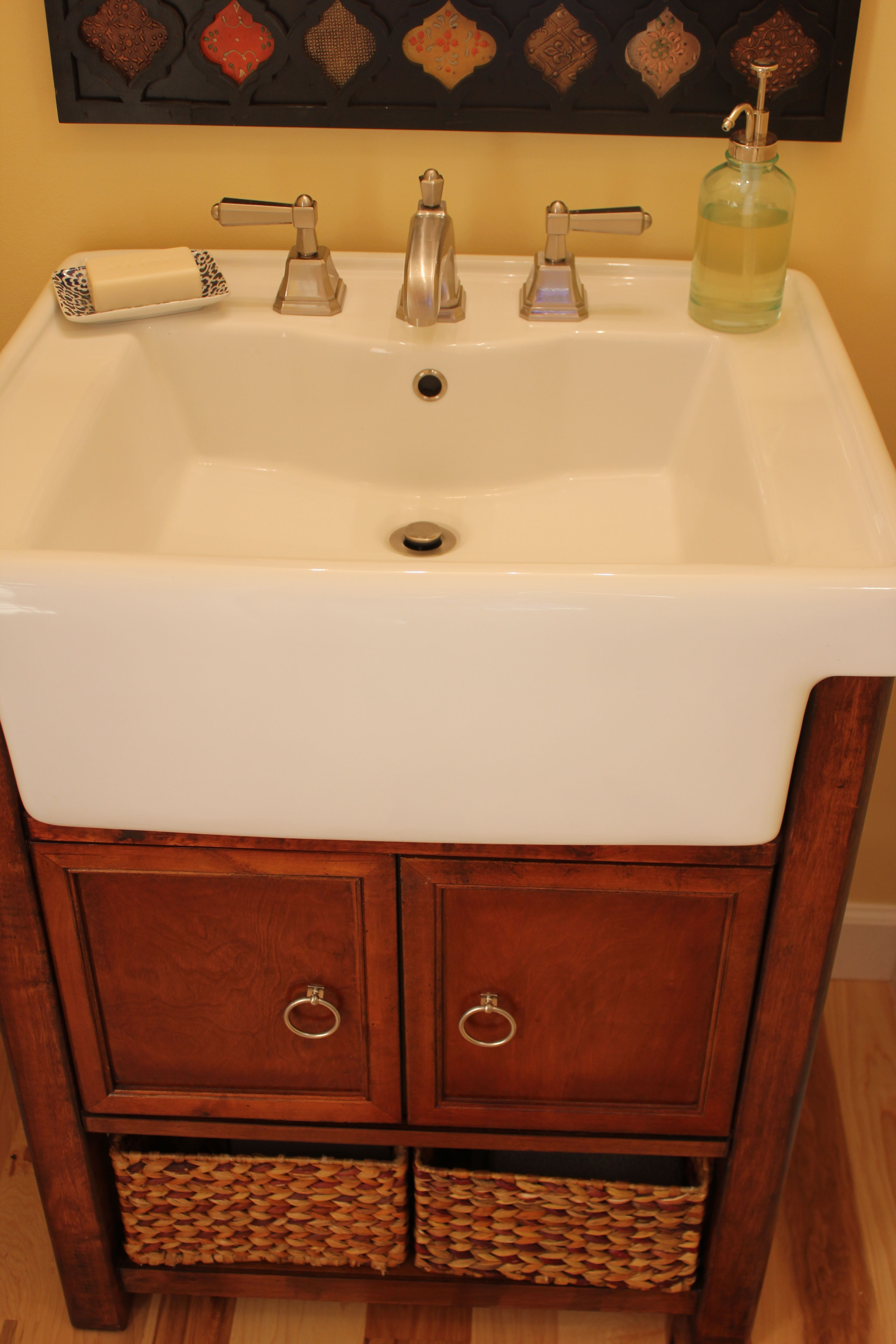 Farm Sink from Lowes Farm sink, Home upgrades, Bathroom