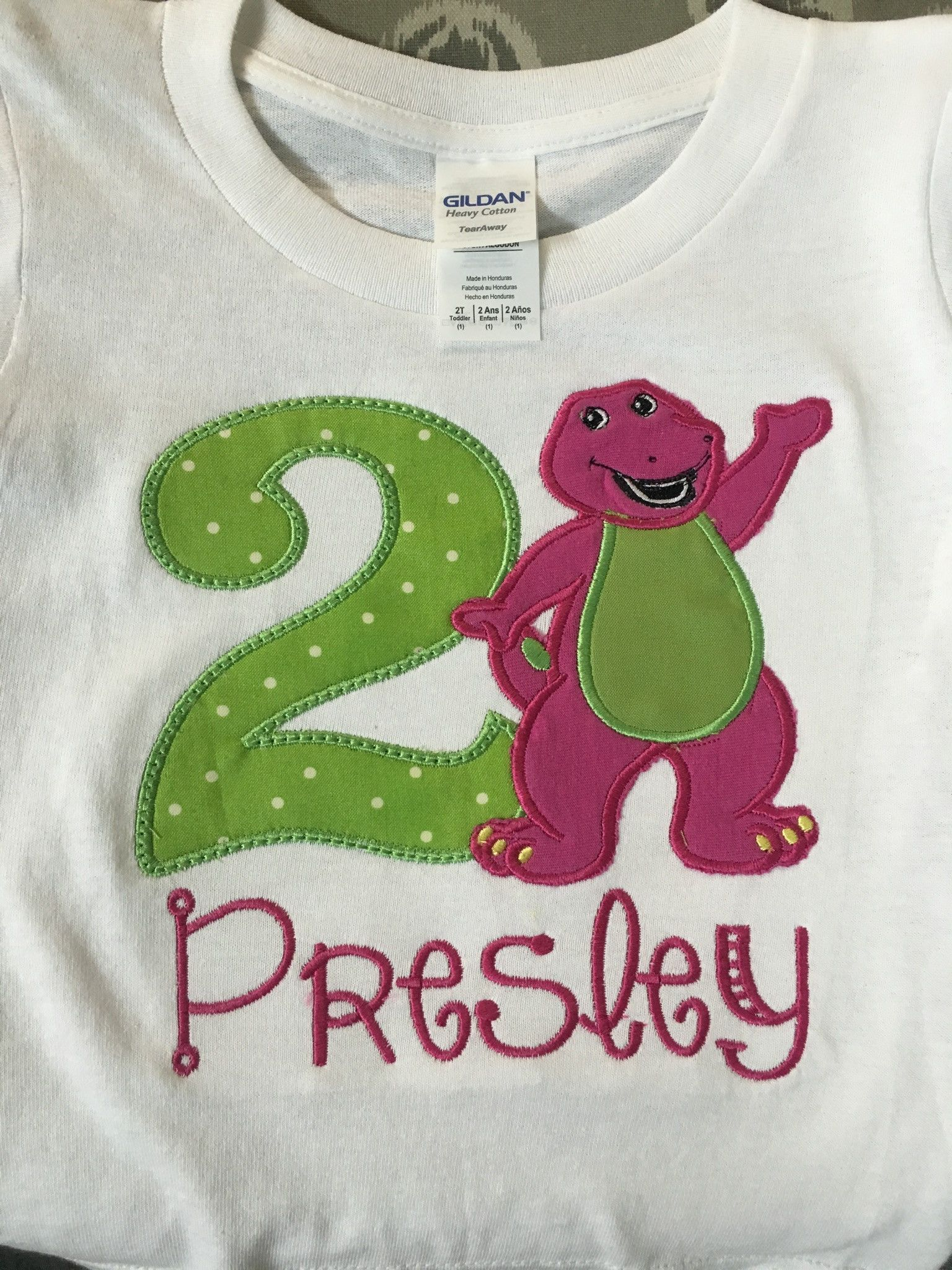 Barney Applique Birthday Shirt