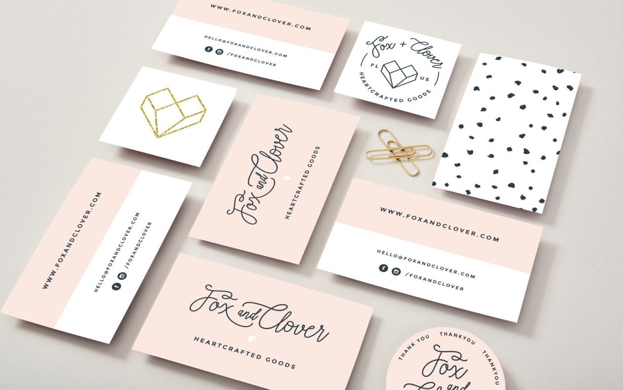 Trendy Feminine Business Card Design Diseno De Tarjetas