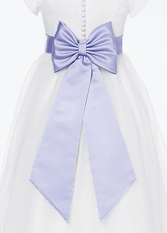 2dab770fcf0 Satin Flower Girl Sash with Back Bow Style S1041