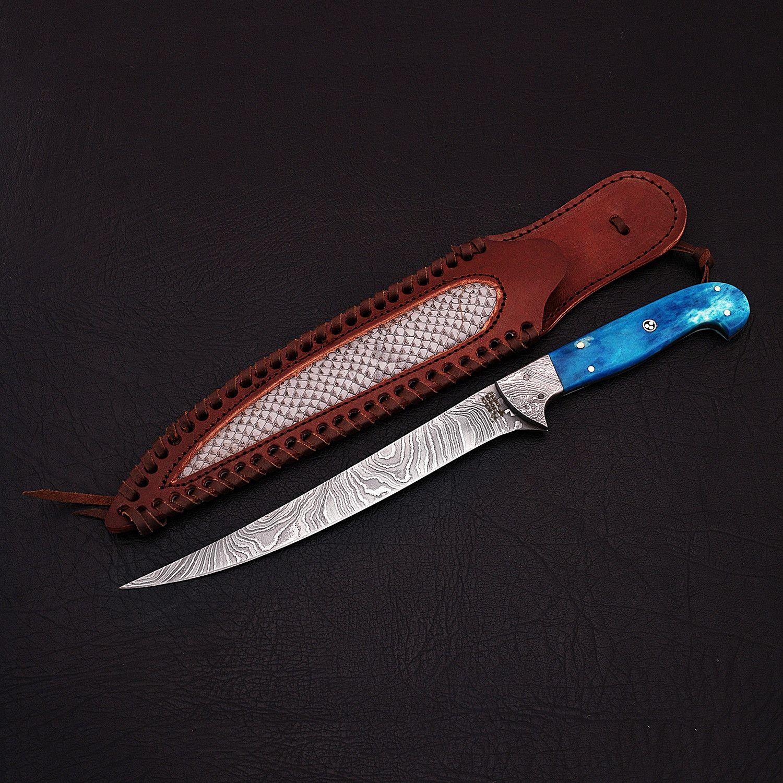 Damascus Fillet Knife // 9193 Fillet knife, knife