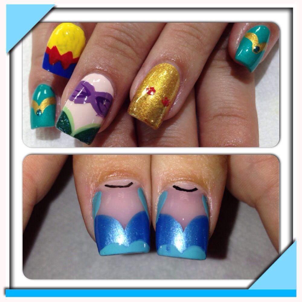 Pin By Savy Day On Disney Nails Disney Princess Nails Disney Princess Nail Art Vacation Nails