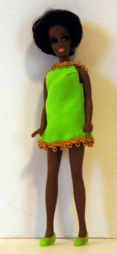 Topper Dawn Doll H81 - Dale w/ Green Eyes - Mini Dress, Panties & Shoes! Lot B2 #DollswithClothingAccessories