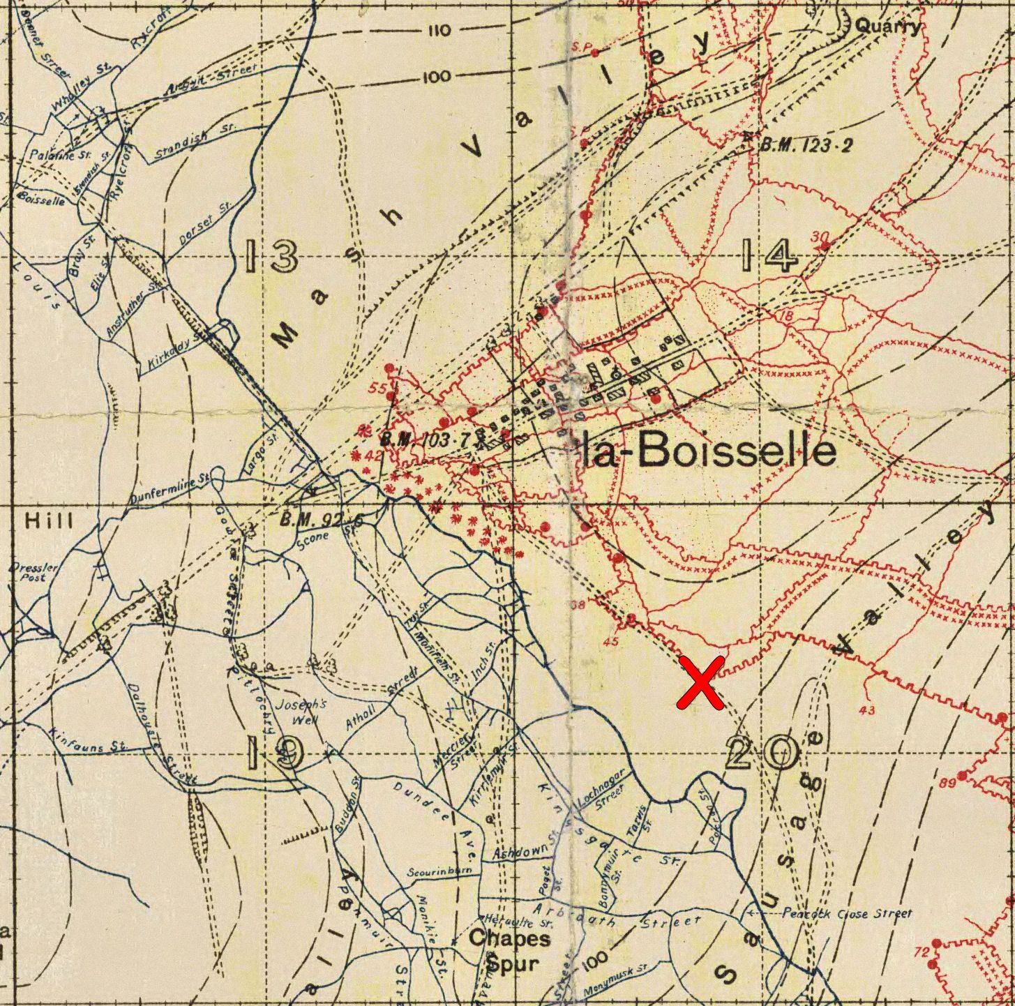 La Boisselle Trench Map | Battle of the somme, World war one ...