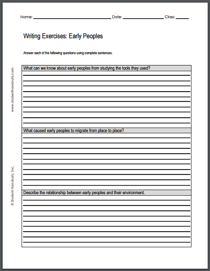 renaissance writing exercises sheet to print pdf  ming dynasty essay questions two printable worksheets each featuring three writing exercises