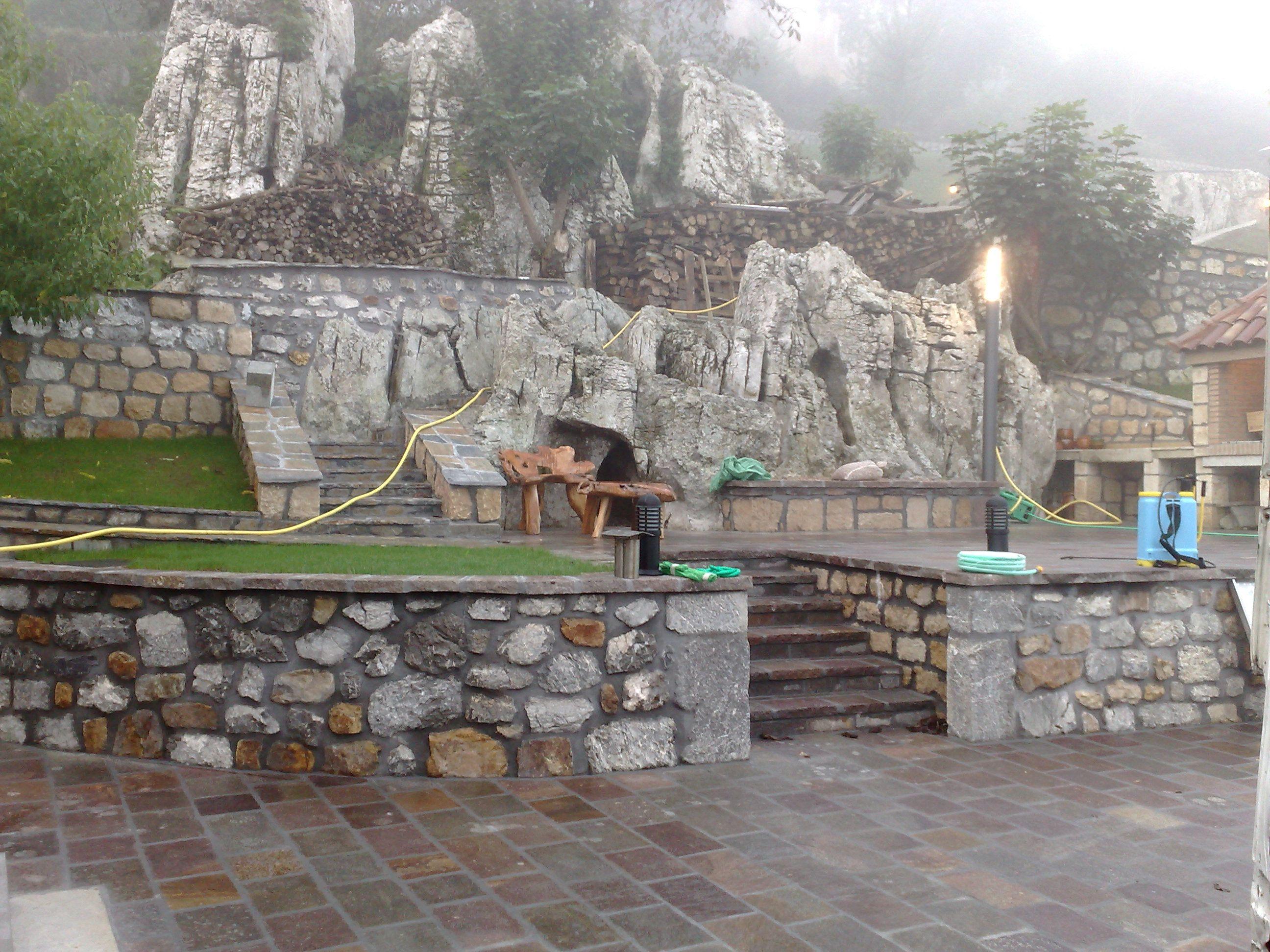 Muro de piedra natural para jard n buscar con google - Muro de piedra natural ...