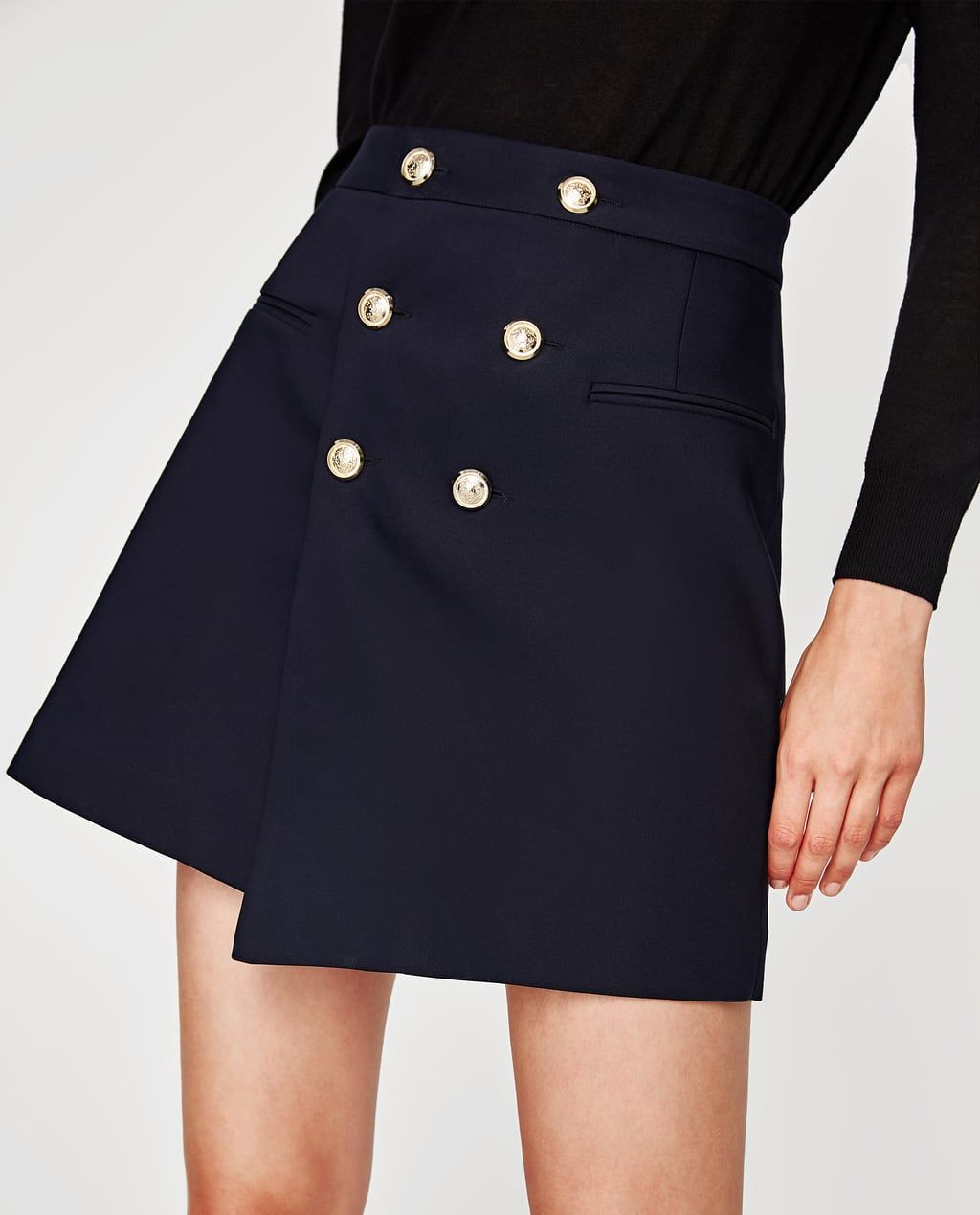 0c1373bf37f374 SKIRT WITH GOLD BUTTONS-Mini-SKIRTS-WOMAN-SALE | ZARA United States ...