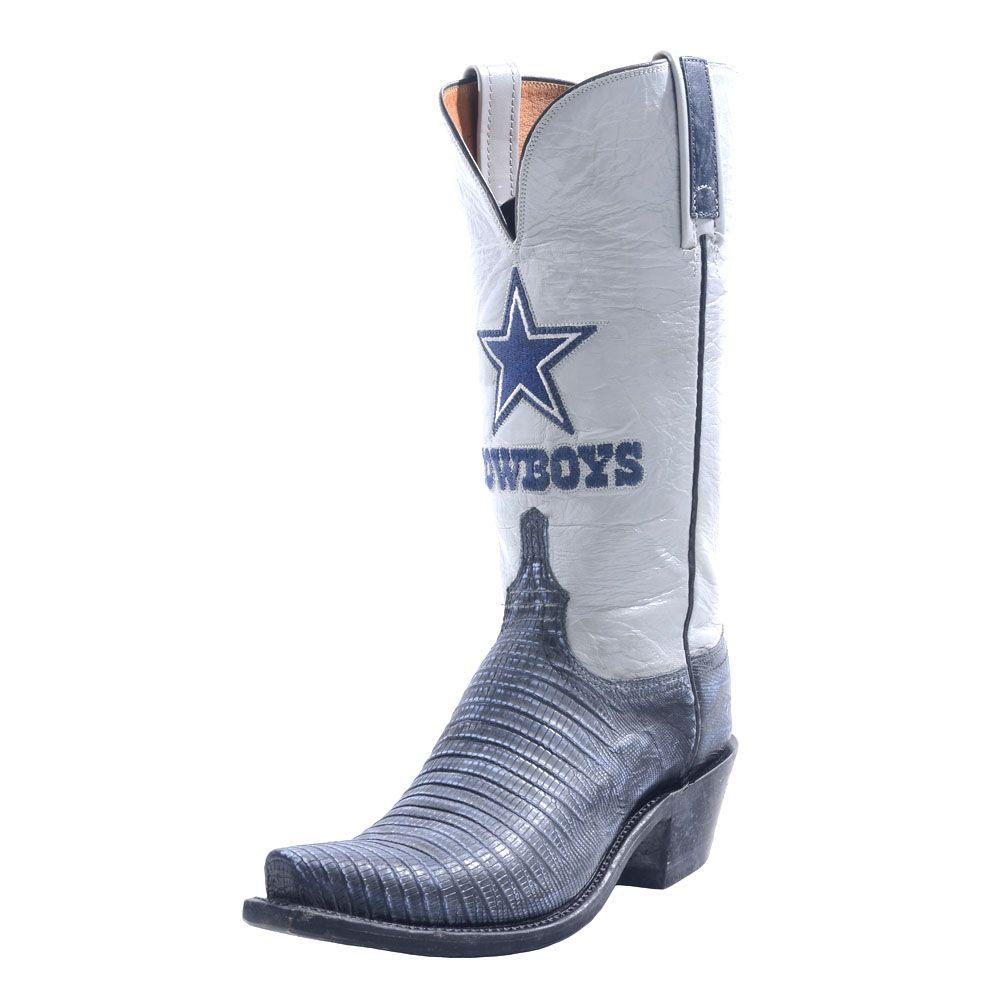 hot sale online 16dae e5668 Dallas Cowboys Lucchese Womens Stonewash Navy Lizard Boot ...