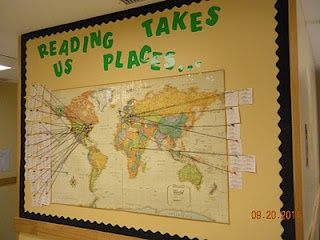 Reading Takes Us Places Bulletin Board MyClassroomIdeascom