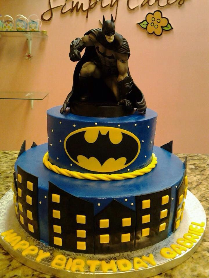 Batman cake Nico 6th birthday ideas Pinterest