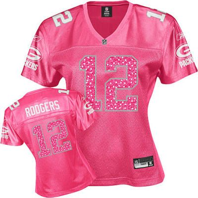 pink aaron rodgers jersey