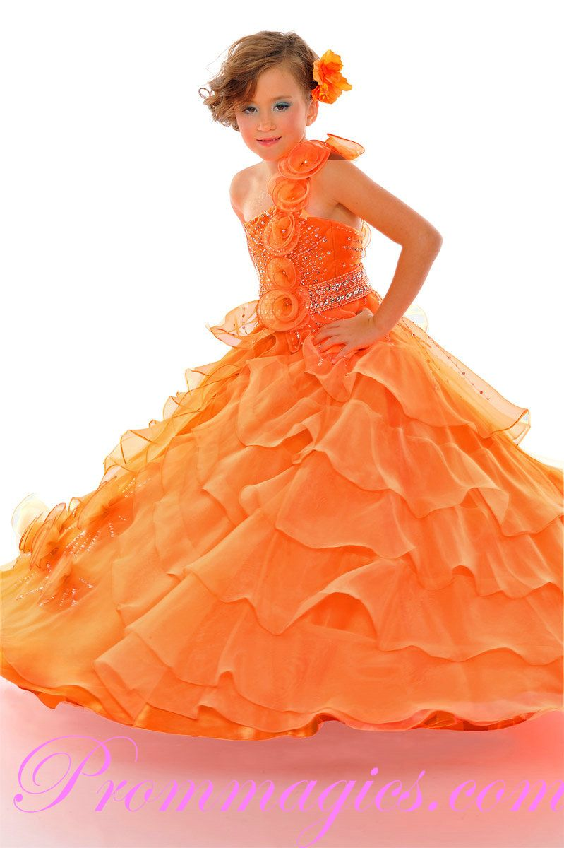 Ruffled pageant Dresses for Girls | prom dresses little girl prom ...