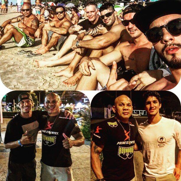 Na praia #snapperrocks #goldcoast com @celsinhovenicius @gilbertojjpg @viscardiandrade é mais uma galera. À noite com o brother surfista pro @thiagocamarao e o campeão @gabrielmedina by verastk
