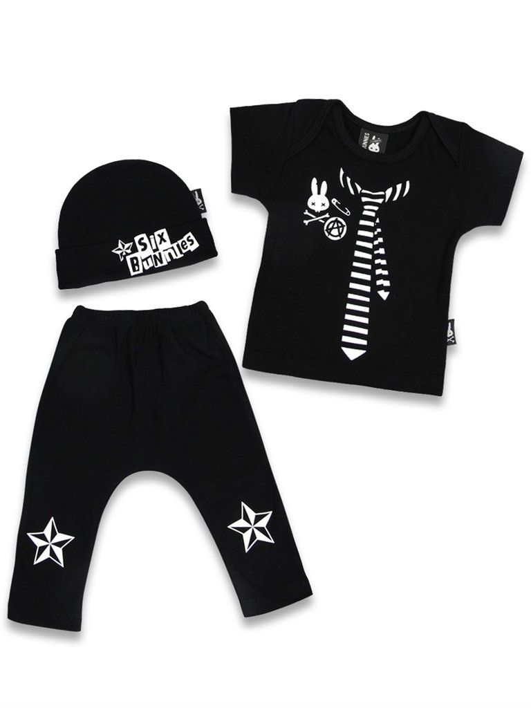 aab93484b2f 30 Clothing Brands for Baby Girls. Six Bunnies Punk 3pc Gift Set Baby  Clothes Unisex Top Pants Cap Outfit  brand-