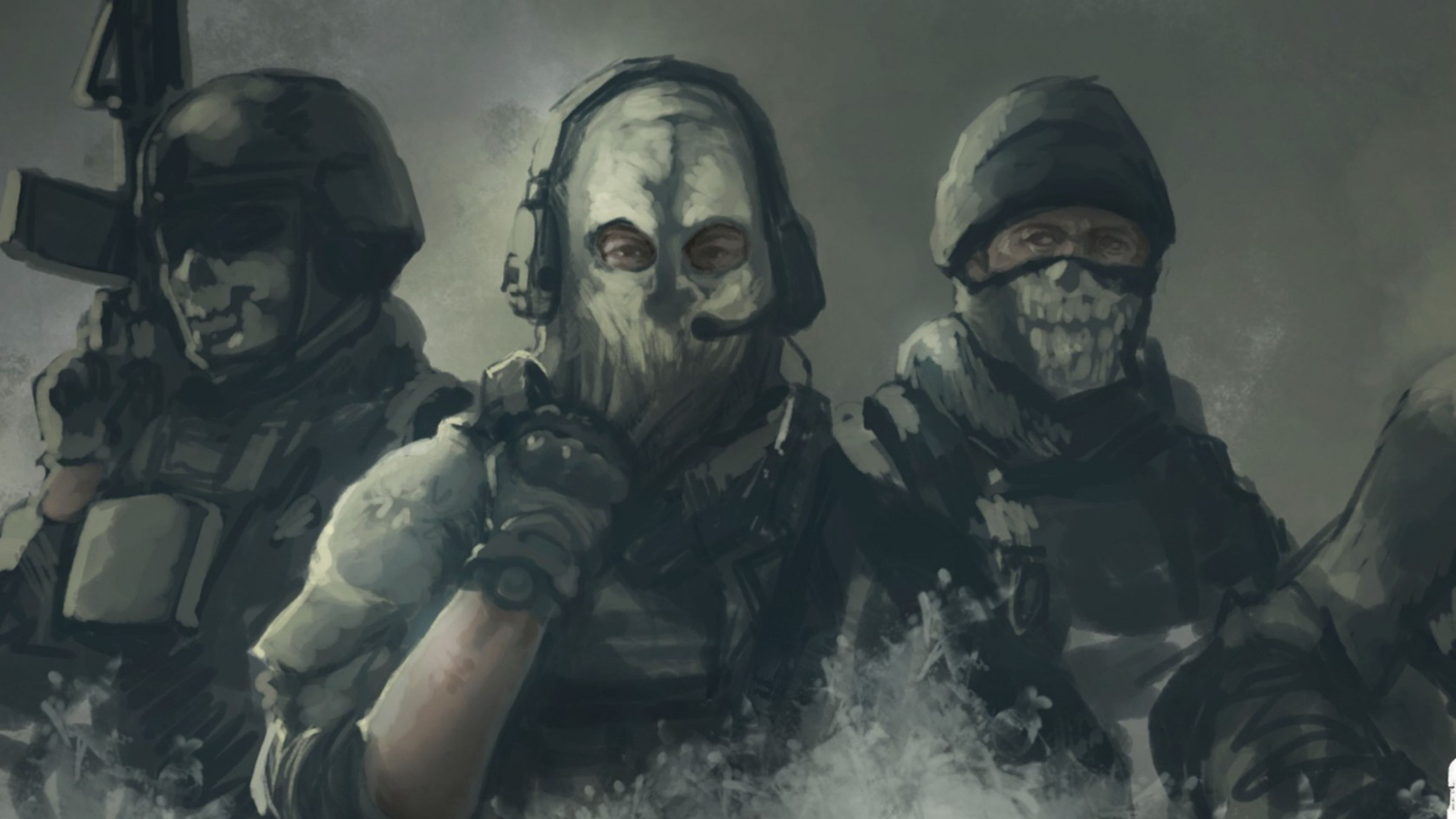 Download Wallpaper 3840x2160 Call Of Duty Ghosts Art 4k Ultra Hd