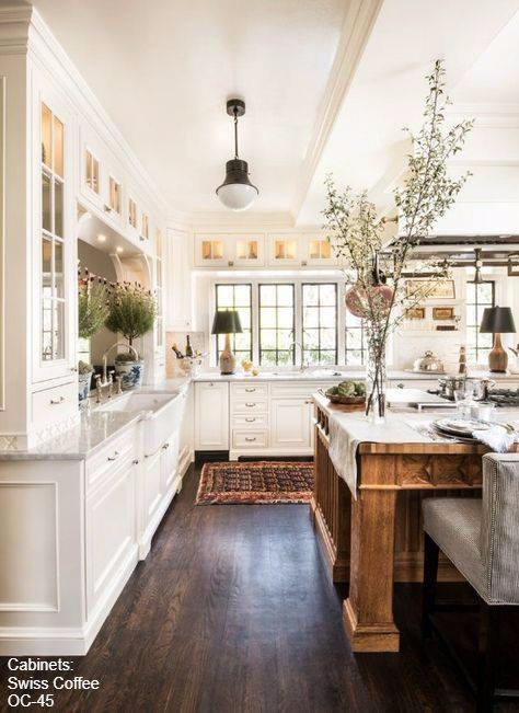 Love The Dark Wood Floors And The Space In This Kitchen