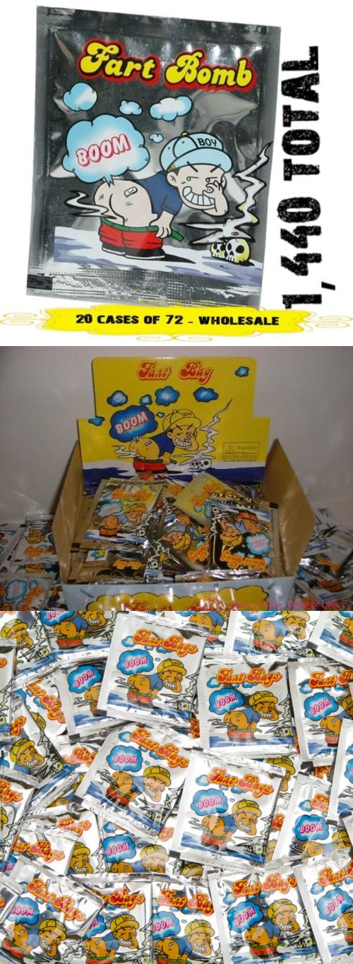 1440 Fart Bombs 20 display cases of 72 Prank Gag wholesale lot Stink Bags