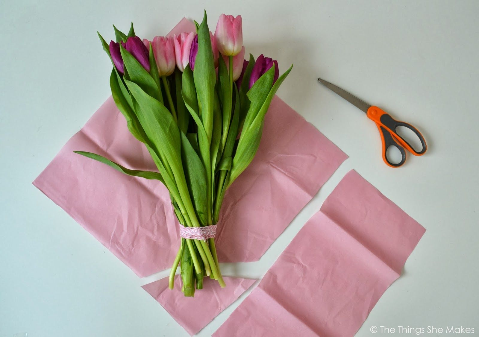 The Things She Makes How To Wrap A Flower Bouquet Oh Bunga