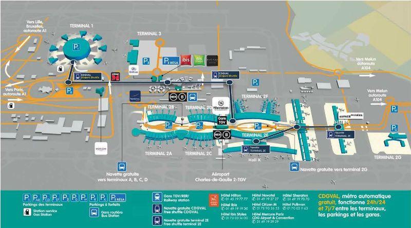 Paris Charles De Gaulle Airport Map Paris Airport Airport Map