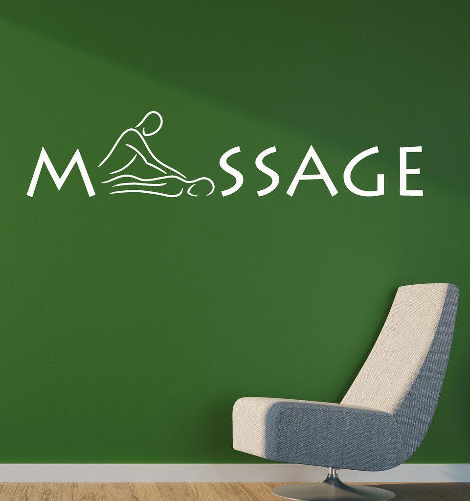 Vinyl Decal Wall Sticker Decor for Massage Salon Relax Spa