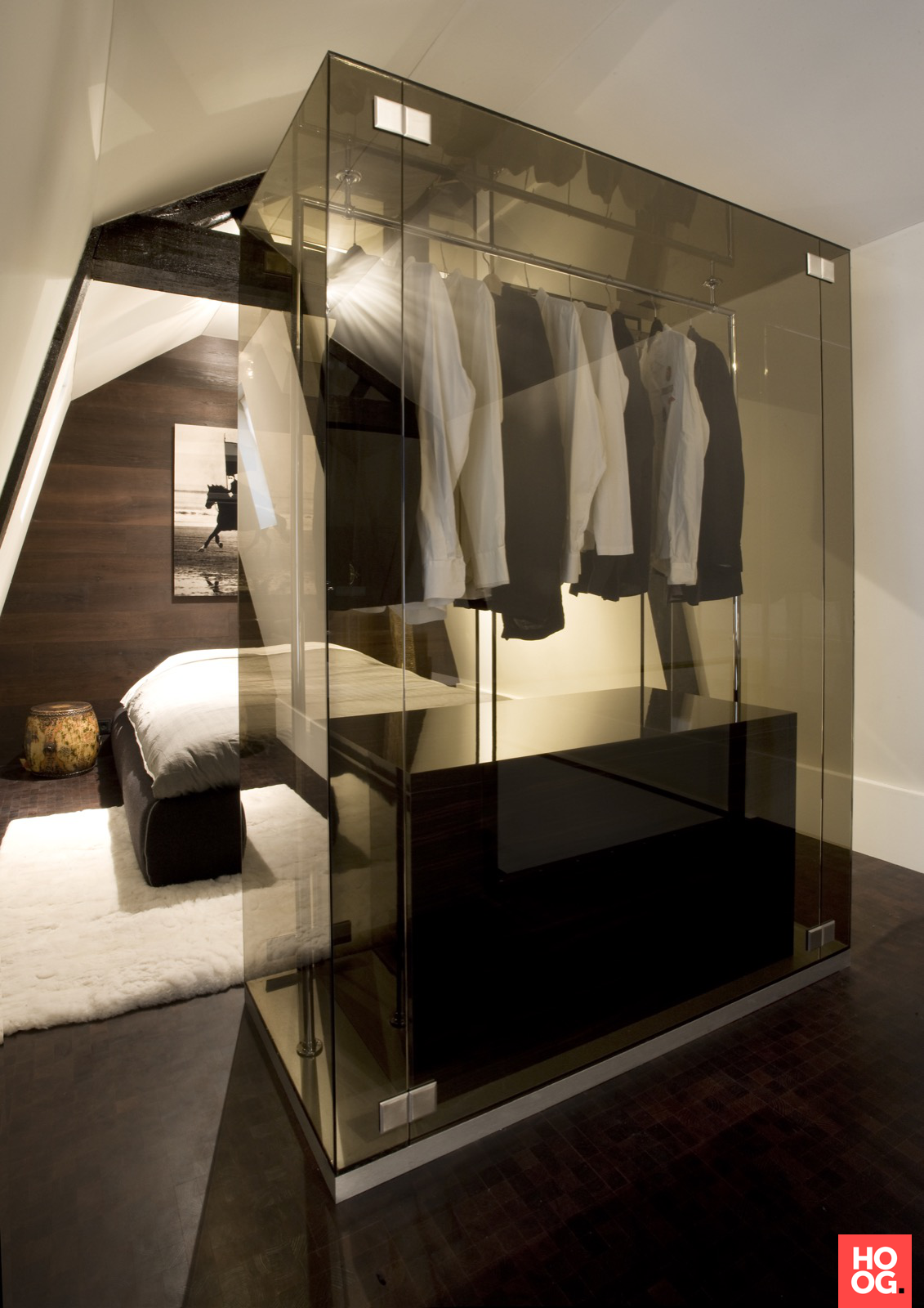 Loft bedroom with walk in wardrobe  Pin by Louisa Hung on Home decor  Pinterest  Bedrooms