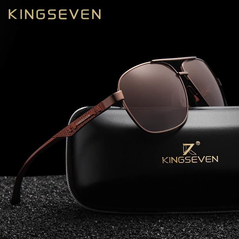 746e8423442 KINGSEVEN Men Aluminum Sunglasses HD Polarized UV400 Mirror Male Sun Glasses  Women For Men Oculos de sol