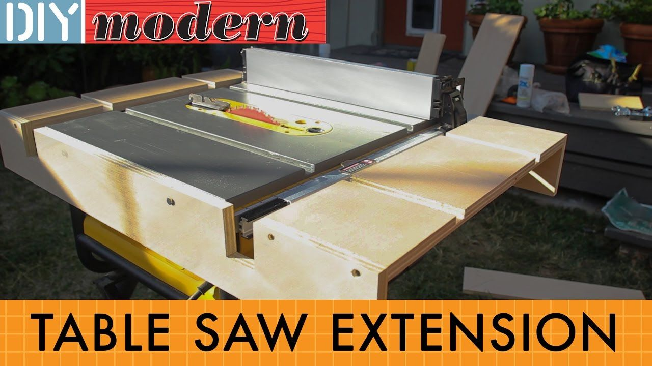 How To Make A Portable Table Saw Extension For The Dewalt 7480 Table Saw Extension Diy Table Saw Jobsite Table Saw