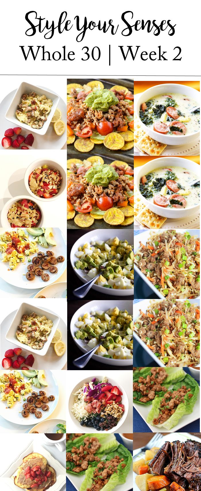 Whole30 Week 2: Meal Plan & Update #whole30recipes