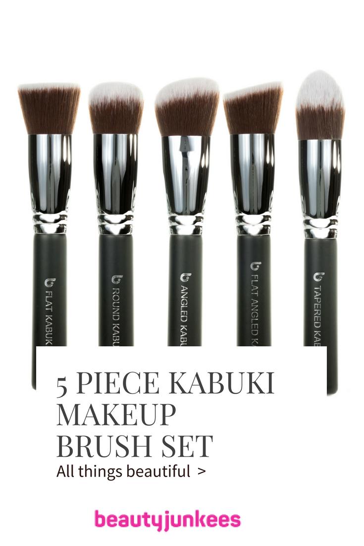 Kabuki Makeup Brush Set with Holder Makeup brush set
