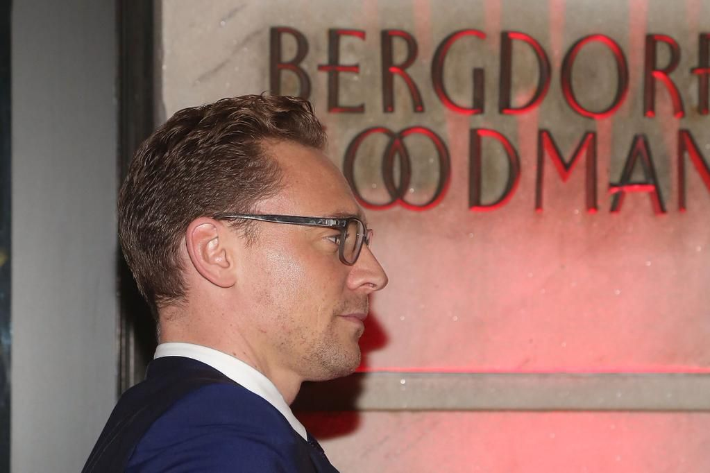 Tom Hiddleston attend a celebration of Bergdorf Goodman Windows inspired by #CrimsonPeak on Oct 13, NY. via torrilla