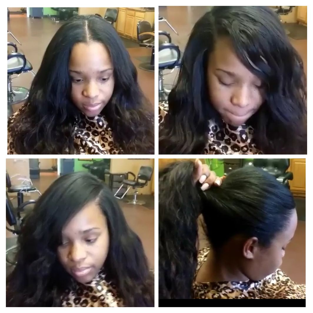 3 Part Lace Closure Sew In Www Imgkid Com The Image