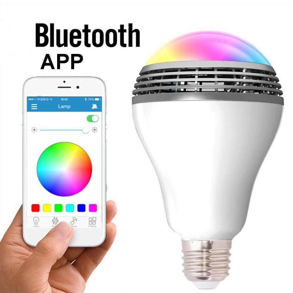 LED Smart Wireless Bluetooth Speaker Bulb RGB Music Light