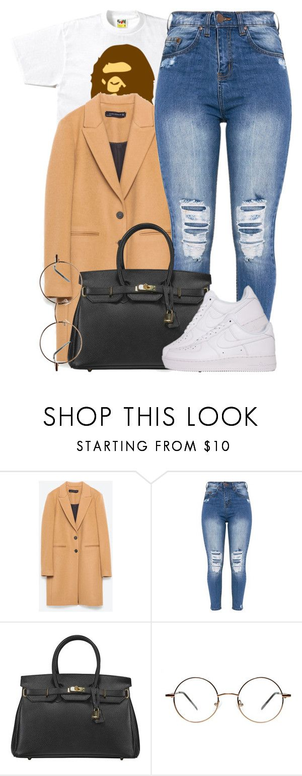 """""""3 18 17"""" by miizz-starburst on Polyvore featuring A BATHING APE and NIKE"""