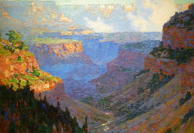 Looking Acrosss the Grand Canyon, por Edward Henry Potthast c. 1910
