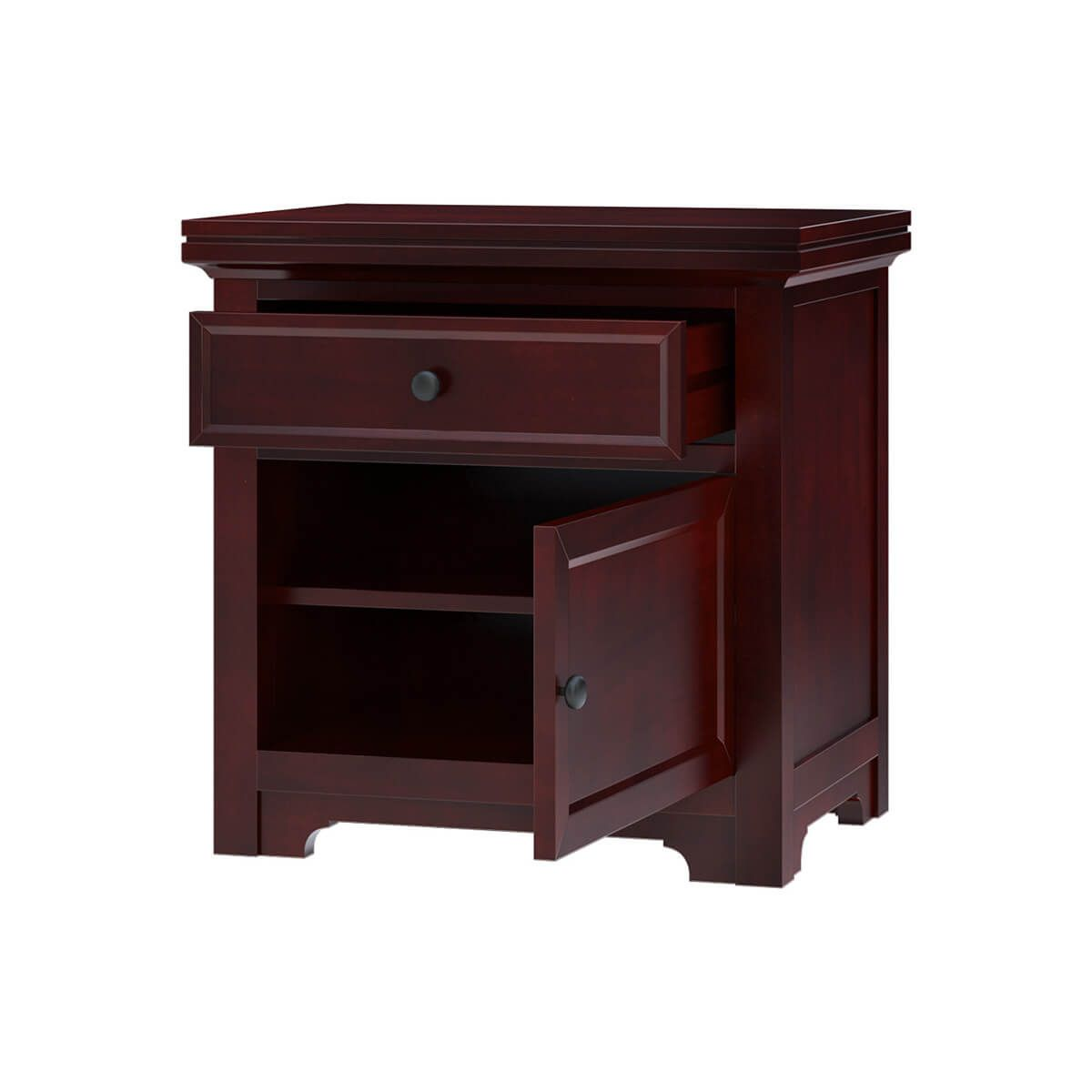Best Carina Contemporary Mahogany Wood 4 Piece Bedroom Set 400 x 300