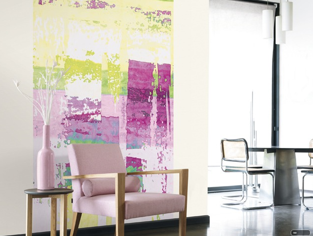 Thiry Paints Inspiratie: CASADECO collection Spring design Spring Panoramique Abstract Parme