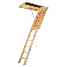 Werner 7 Ft To 8 75 Ft Type Iaa Wood Attic Ladder Wh3008 Attic Ladder Attic Design Attic House