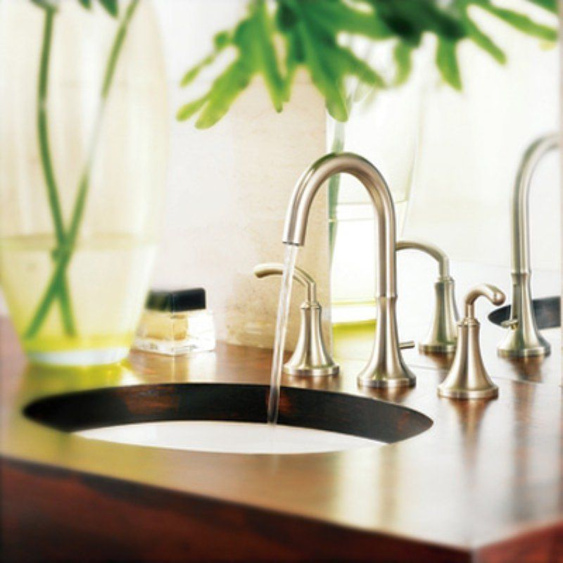 Moen Icon TS6520 Widespread Bathroom Sink Faucet - MTS6520BN ...