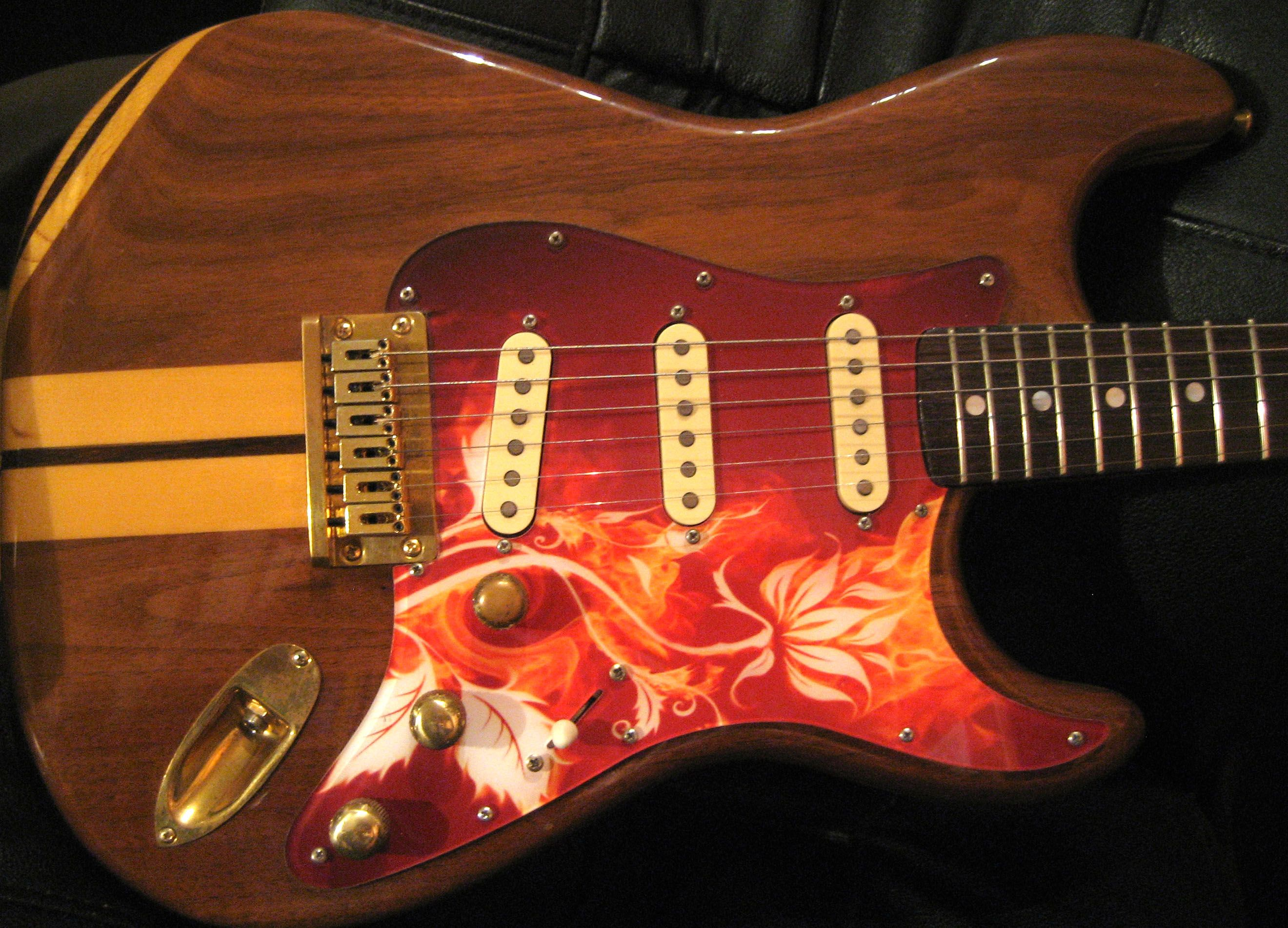 Custom flowers and flames axetremecreations pickguard on strat custom flowers and flames axetremecreations pickguard on strat style guitar sciox Images