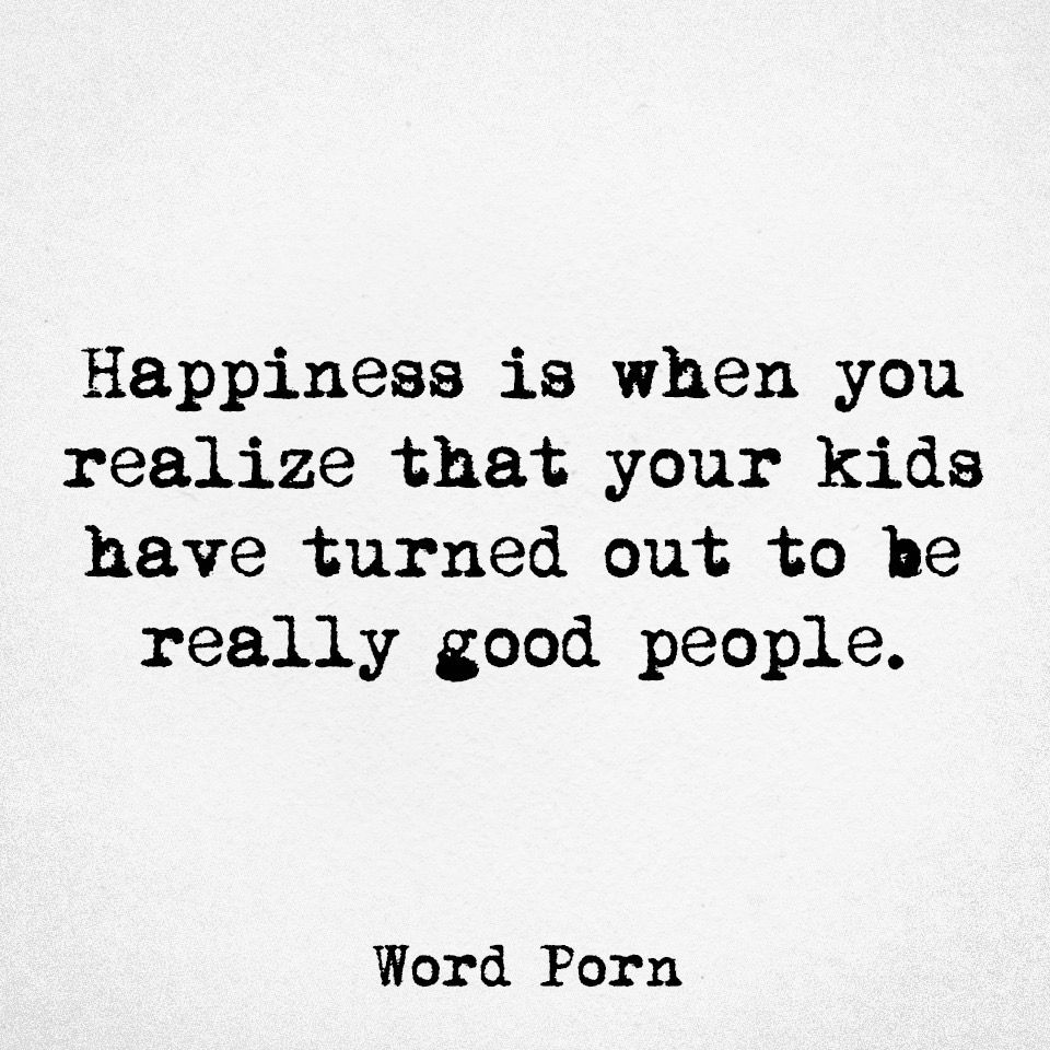 That's true happiness