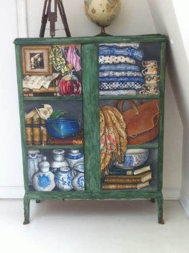 Trampantojo decor ideas pinterest muebles antiguos - Armarios pintados a mano ...