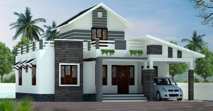 Low Cost Kerala Home Design 1379 Sq Ft 2 Bhk House Plan Kerala House Design Kerala Houses Single Floor House Design