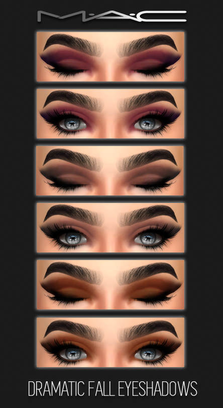 Sims 4 CC's - The Best: Dramatic Fall Eye-shadows by MAC #fallmakeuplooks