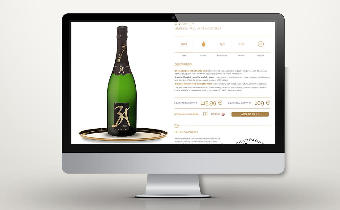 Website design of the biggest French online shop of