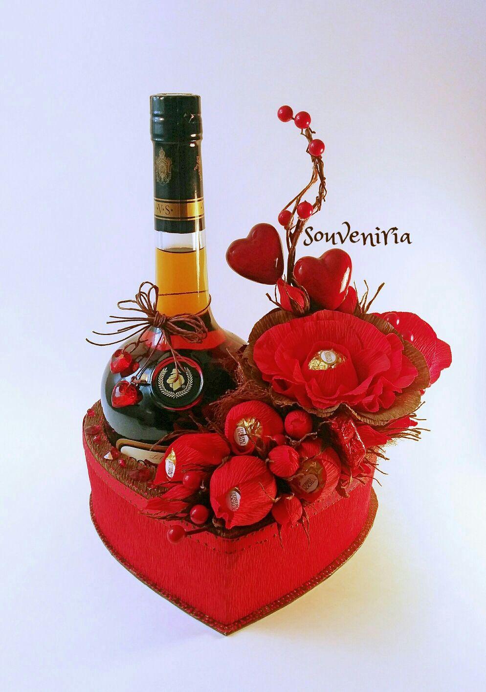 Carmen Valentines Flowers Valentine Gifts Wine Bottle Gift